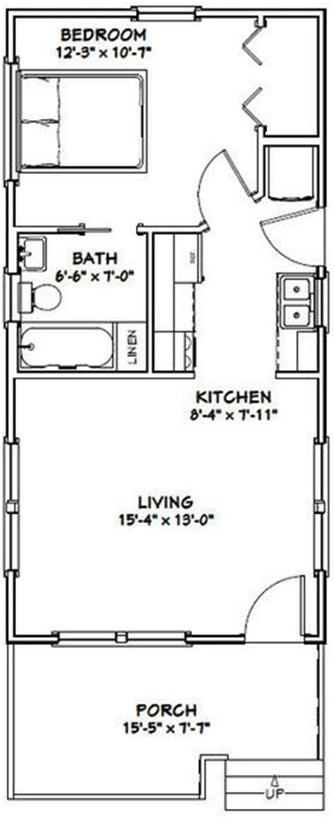 16x28 tiny house 16x28h1e 447 sq ft excellent floor plans tiny house plan 76163 total living area 320 sq ft 1
