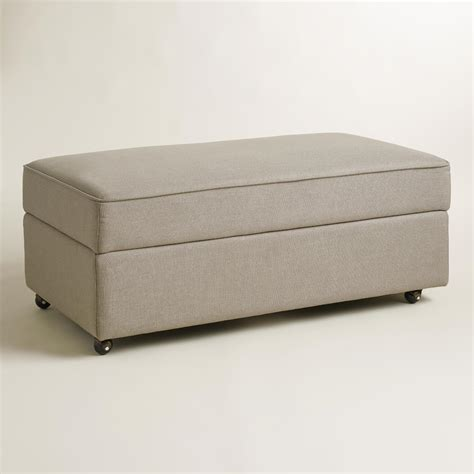 storage ottoman gray pebble gray chad storage ottoman world market