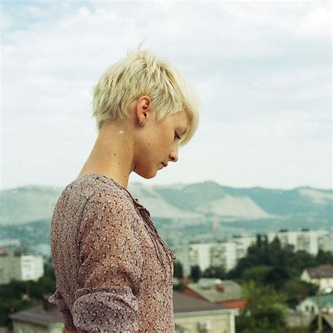 hairstyles blonde in front black in the back nice blonde pixie cut back view hair pinterest