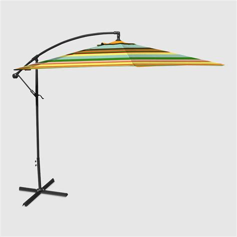 Havana Stripe 10 Ft Outdoor Cantilever Umbrella World Market World Market Patio Umbrellas