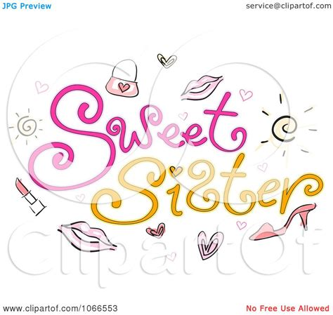 clipart sweet sister sign royalty free vector