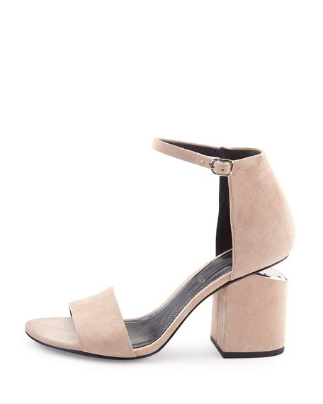 Sandal Pria Catenzo Ms 30 wang abby suede tilt heel city sandal sand