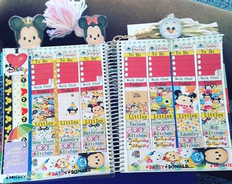 Tsum Tsum Weekly Journal 2226 best stickers labels images on free printable happy planner and free printables
