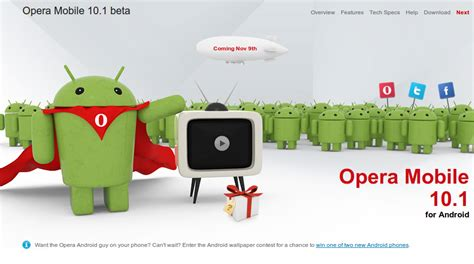 opera mobile 10 1 opera mobile 10 1 for android 將於 11月9日發佈 techorz 囧科技