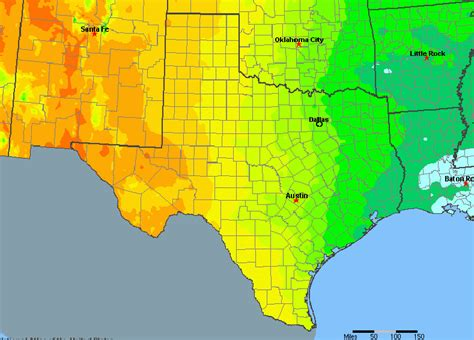 climate map of texas texas annual rainfall map my