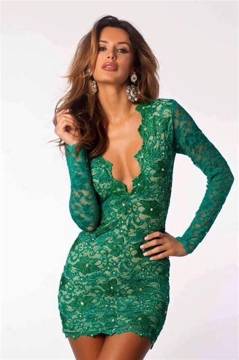 P156 L Dress Lace Green dress eli holt dress