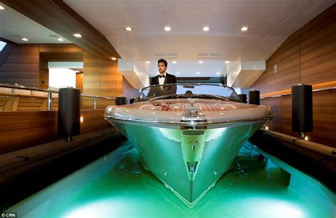 empties water from boat 196 foot j ade mega yacht with world s first floating