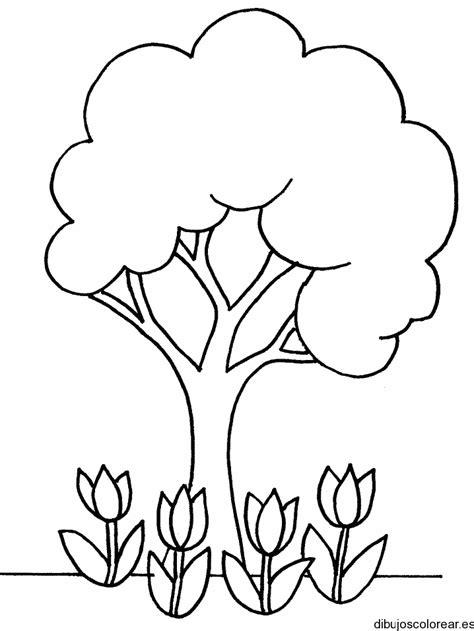 arbol de ceiba para colorear dibujo de un 225 rbol y flores