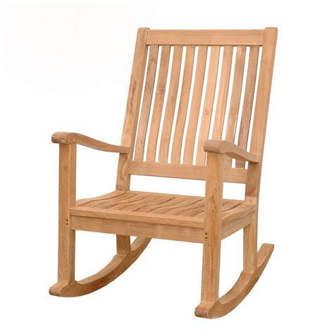 outdoor patio rocking chairs shop teak amo patio rocking chair at