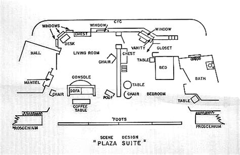 set design floor plan floor plan scene design scene design plaza suite