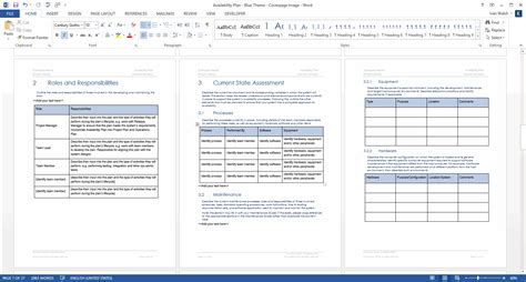 Availability Plan Ms Word Template Software Purchase Justification Template