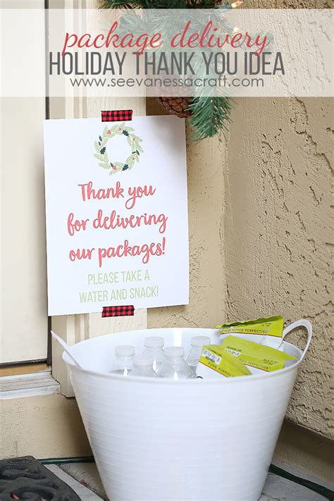 christmas gift for ups driver thank you idea for package delivery see craft