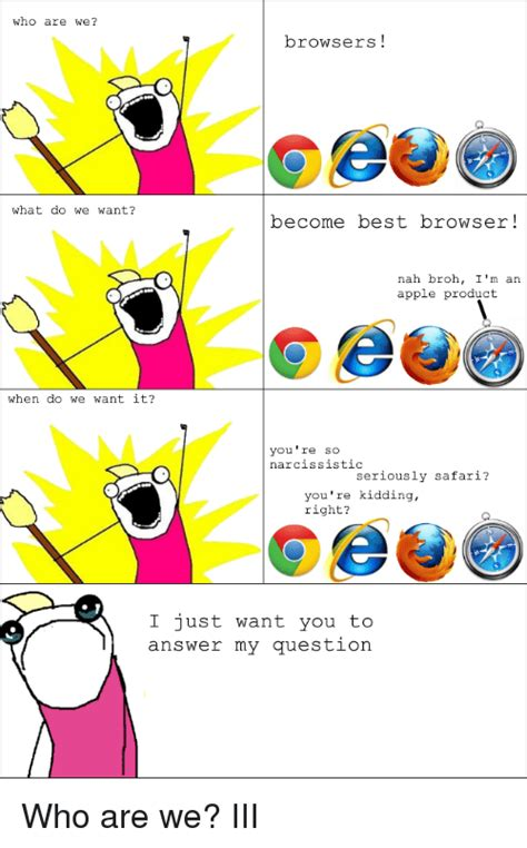 Who Are We Browsers Meme - who are we browsers meme 28 images browsers what are