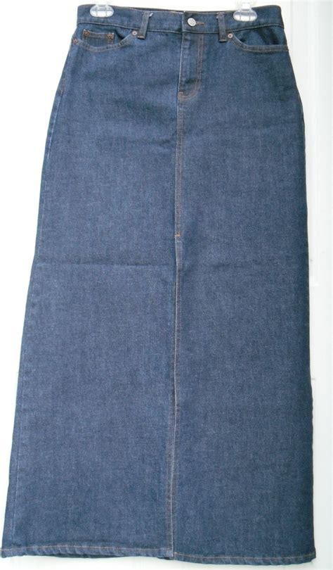 jean skirts for gap stretch denim front split