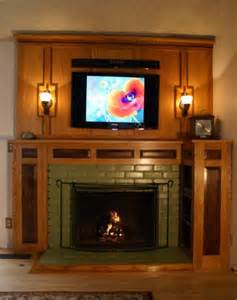 Arts amp crafts fireplace surround woodworking project picture photo