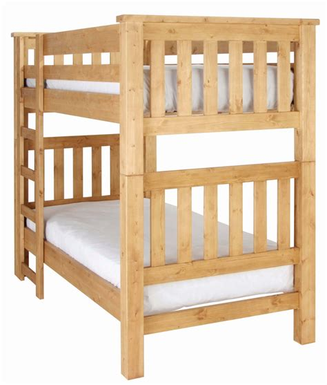 Pine Wood Bunk Beds Chunky Pine Bunk Bed Furniture Wales