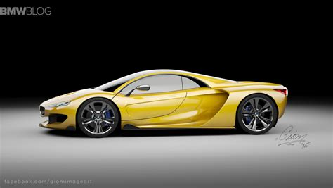 bmw supercar concept rendering bmw hypercar to compete with mclaren p1 and
