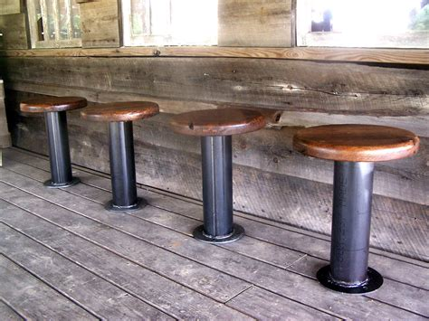 Commercial Bolt Bar Stools by Bolt Industrial Pedestal Bar Stools From