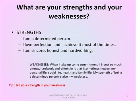 strengths and weaknesses for interviews how to talk