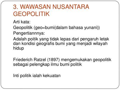 geopolitik adalah bab ii 1 3 wawasan nusantara