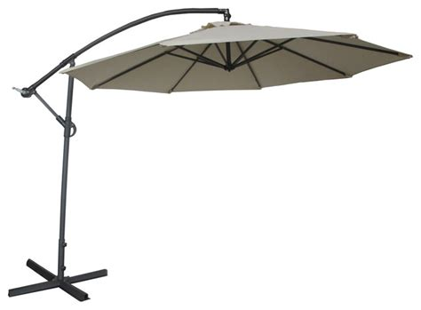 Offset Patio Umbrella With Base Abba Patio Cantilever Patio Umbrella W Cross Base And Crank White 10 Ft Modern