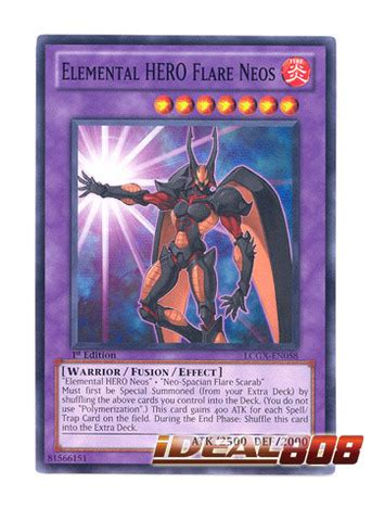 Neos Lcgx En096 Common 1st Edition Yugioh elemental flare neos lcgx en058 common 1st