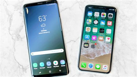 samsung galaxy s9 vs iphone x flagship phones compared pcmag