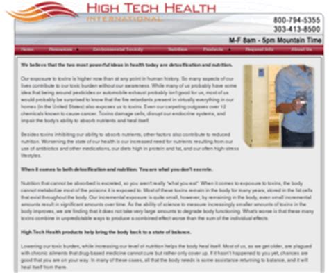 Health Tech Detox Description by Hightechhealth High Tech Health Thermal Far