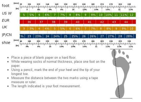 shoe size chart how to measure women s shoe size measurements womens shoe size chart