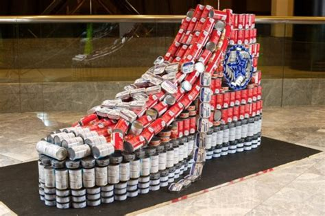 canned food sculpture ideas food sculptures 12 things you can make with tin cans bit rebels