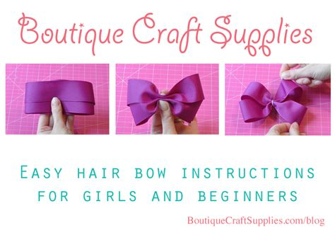 hair bow instructions project easy hair bow instructions for girls boutique craft supplies