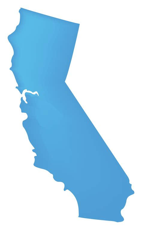 california map clip solid map of california clip clipart best