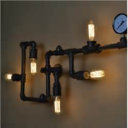 New year creative wall lamp ancient water pipe sconce american vintage