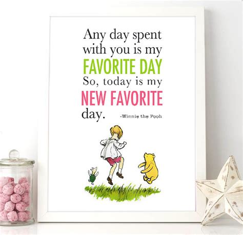 printable pooh quotes printable winnie the pooh wall quote 8x10 today is my new