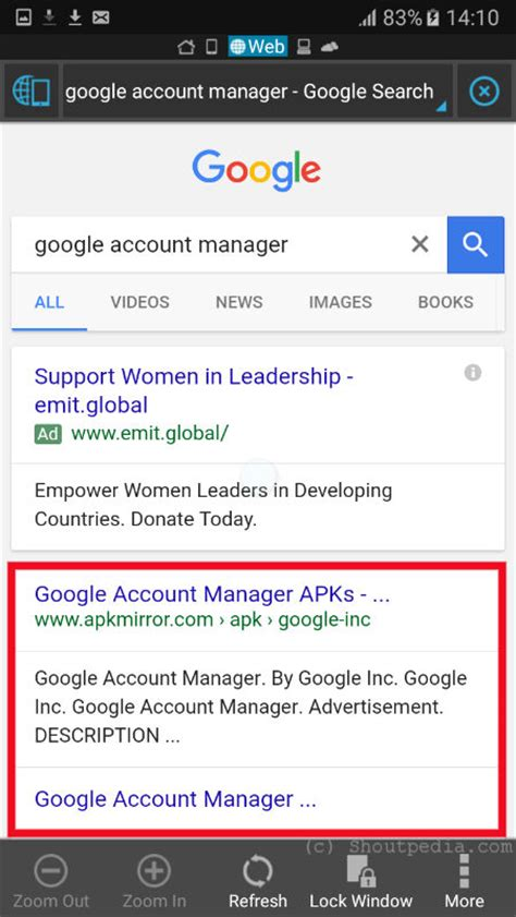 get back type email and password option instead of error in account manager - Account Manager Apk
