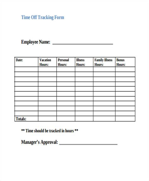 Employee Time Sheet Pdf Template Business Employee Pto Tracker Template