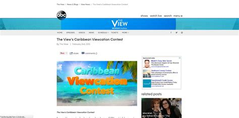 Abc The View Sweepstakes - why isnt whoopi on the view may 2015 a online health magazine for daily health news