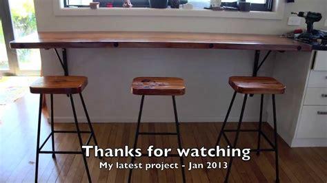 rimu breakfast bar  stools project jan  youtube