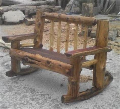 chainsaw bench logs chainsaw carved benches rustic furnishings pinterest