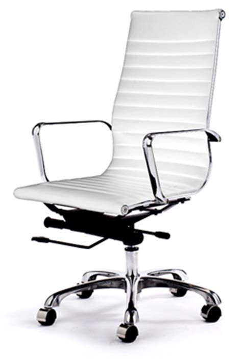 The White Chair Retro Eames Style Office Chair White