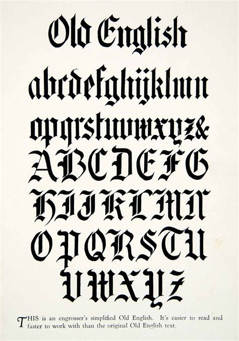 free printable decorative fonts 1928 print old english typography graphic design style