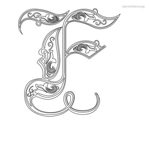 tattoo alphabet stencil decorative stencil letter f tattoos piercings
