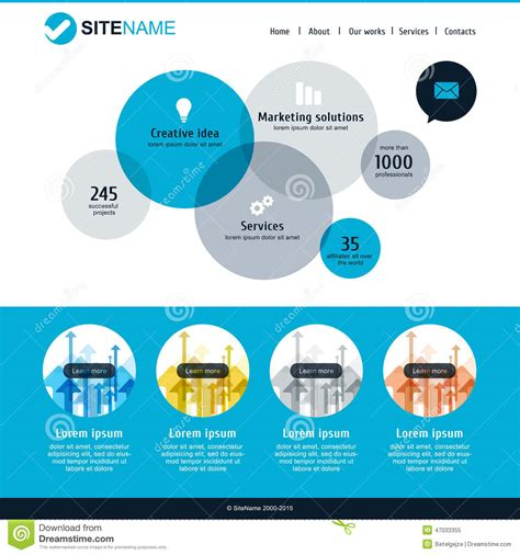 website layout vector free corporate website template modern flat web design vector
