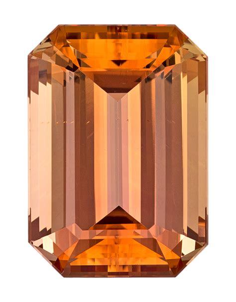 Imperial Chagne Topaz 12 80ct imperial topaz 12 34 carat emerald cut gemstone