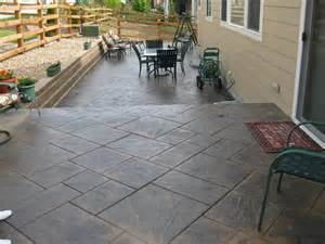 backyard patio materials on pinterest sted concrete