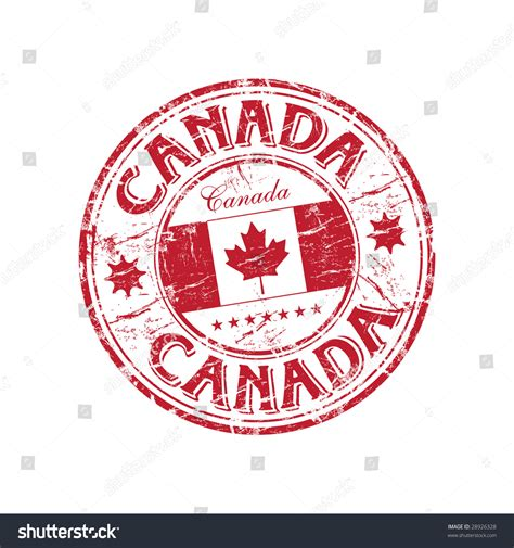 Canadian Mailing Address Lookup Grunge Rubber St With The Canadian Flag And The Name Of Canada Written Inside