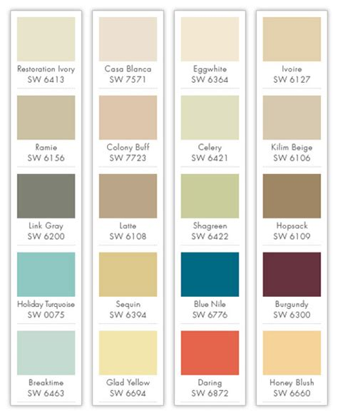 Colour Chart For Bedrooms certapro painters bedrooms color palette by certapro