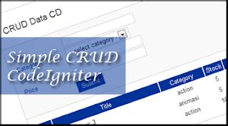 simple codeigniter blog wildan faza ramadhan blog s simple crud with codeigniter
