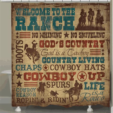 cute new lone star western home country decor wall cross western shower curtains cowboy lifestyle shower curtain