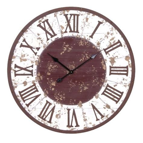 large rustic wall clock   shaby chic furniture